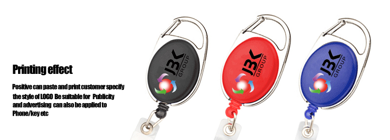 Best quality plastic retractable badge reel with light