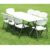 New harmless health material folding dinning table set for sale