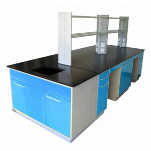 factory customized high quality new style steel structure lab central work table,lab and dental work table