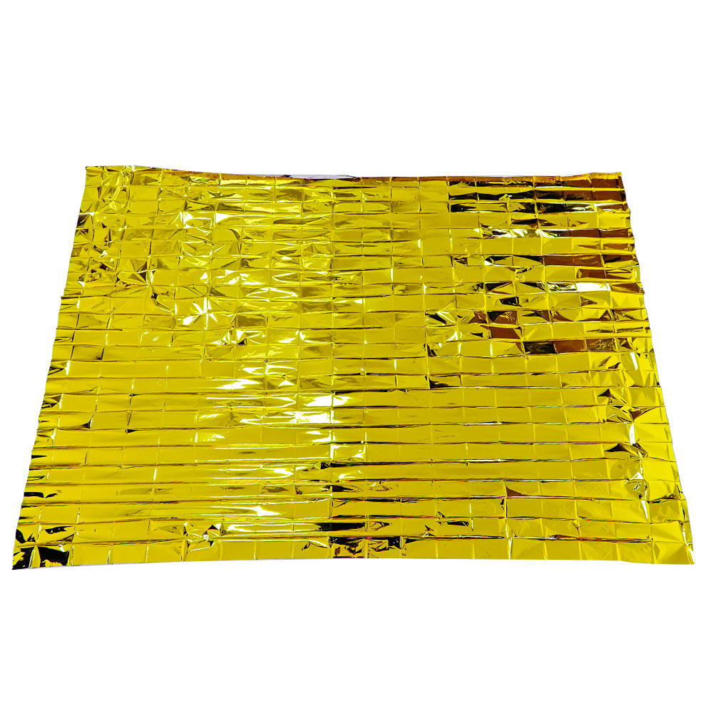 First aid rescue promotion outdoor Mylar Survival Wholesale longer Emergency Blanket Gold Foil thermal blanket