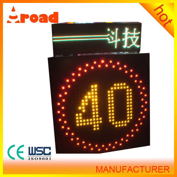 worthy buying timeproof Solar LED Traffic Sign Board Speed-Limit and folding traffic signs