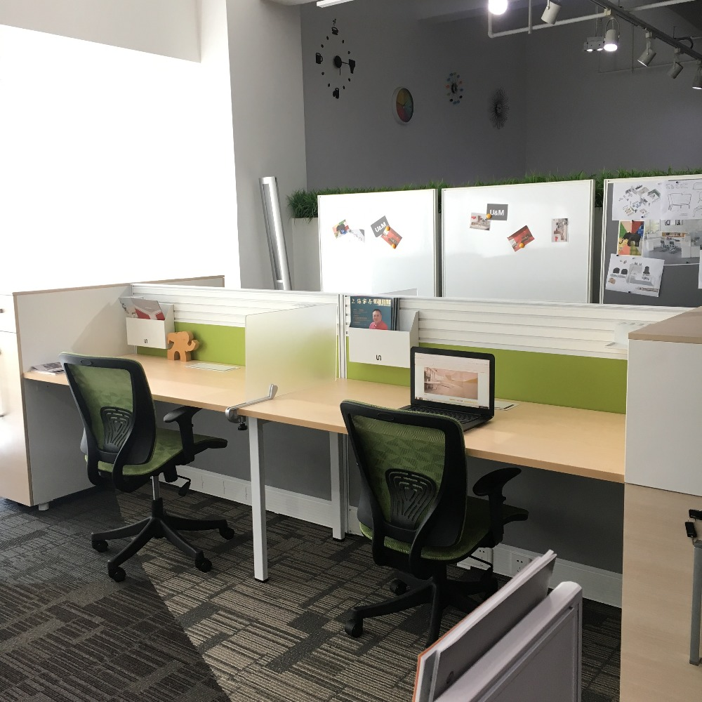 China manufacturer modern style office cubicle furniture workstation with screen modular furniture office patition panel system