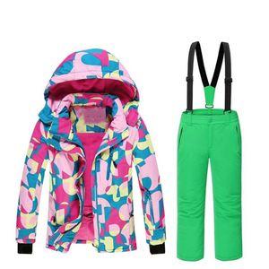 070bca5c2ef7 Waterproof Winter Colorful Girls Ski suit