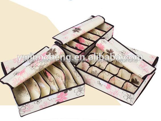 Organizador calcetines y ropa interior cajas de almacenamiento plegable organizador del - Organizador de ropa interior ...