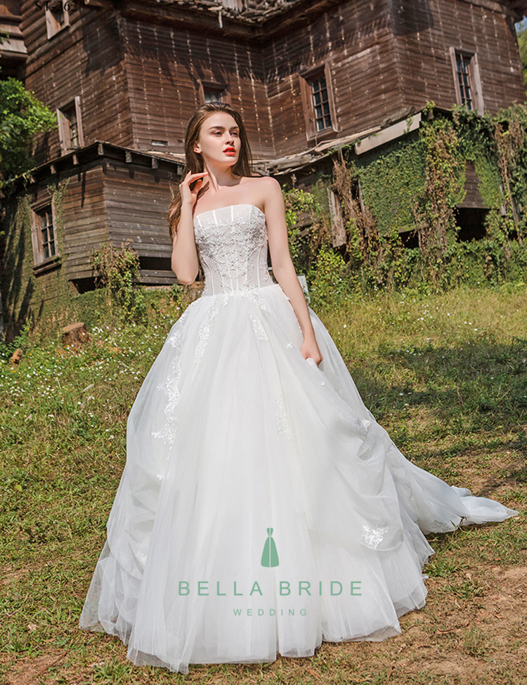 Chic Bridal Ball Gown Wedding Dress 2017 Latest Designs With Ruffles