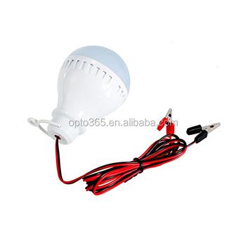 Energy Saver 15w Dc 12volt To 85v Led Light Bulb Battery Clip ...