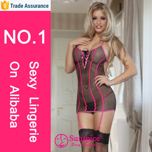 Coquette fishnet halter backless babydoll sexy transparent nude babydoll