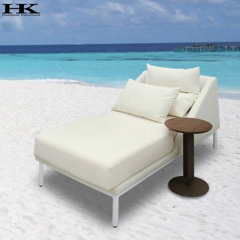 OEM and ODM factory outdoor furniture professional manufacturer Recliner Chaise Lounge With Coffee Table Poolside Lounger