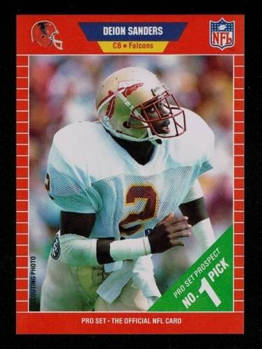 02854100 1989 Pro Set Deion Sanders Rookie Football Card #486 - Dallas Cowboys /  Florida State