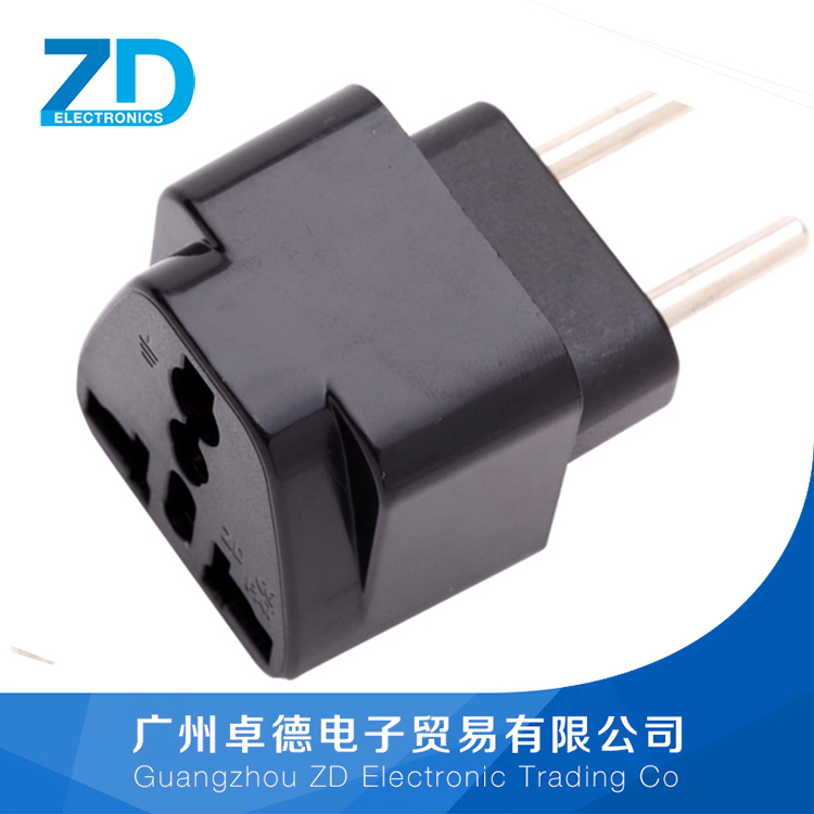C10 Universal changeover adapter to EU travel power conventer female to male electrical plug adapter