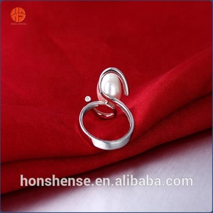 2016 Hot Selling Special Tat Ring for Women 925 Silver Jewelry Wholesale Pearl Rings