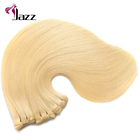10a russian blonde virgin remy human hair extensions,double drawn straight raw russian hair bundles for white women