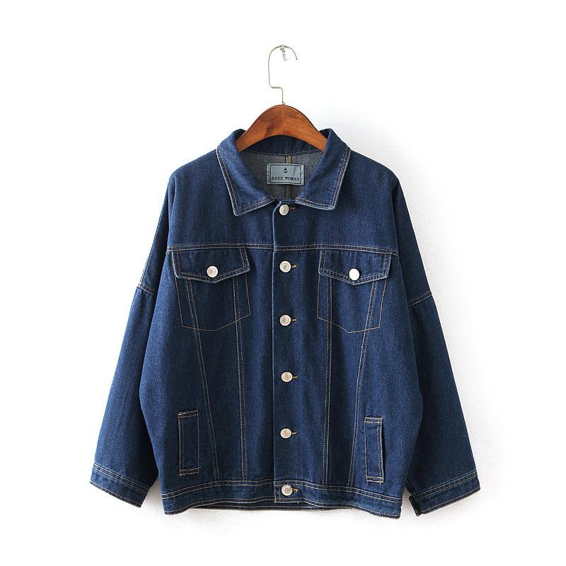 e6c41de1fc48a Get Quotations · New 2015 Women Denim Jackets Tops Autumn winter bat Long  Sleeve Fashion Blue Denim Coat loose