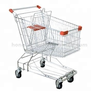 Factory price easy folding supermarket shopping cart trolley 180L