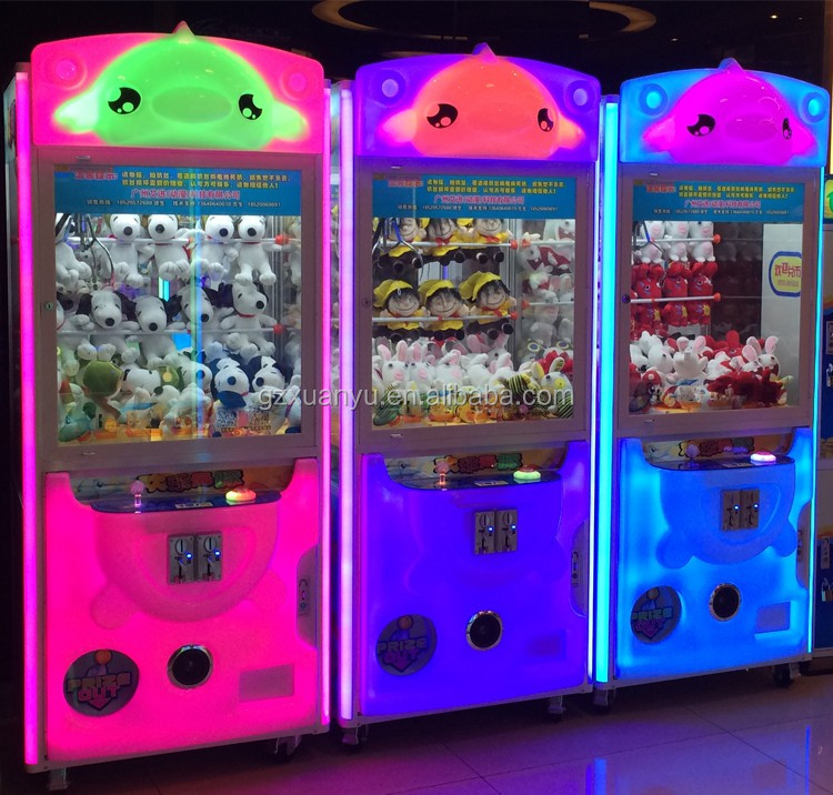 Xuanyu coin operated crane claw machine arcade toy vending machine game for sale