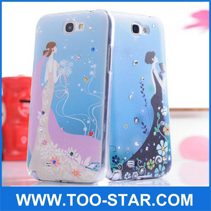 Diamond Beautiful Girls Mobile Covers For Note 2 N7100