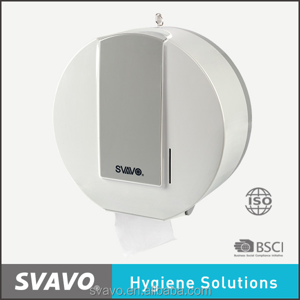 svavo new arrival hot selling plastic white roll tissue holder for hotel washroom VX785
