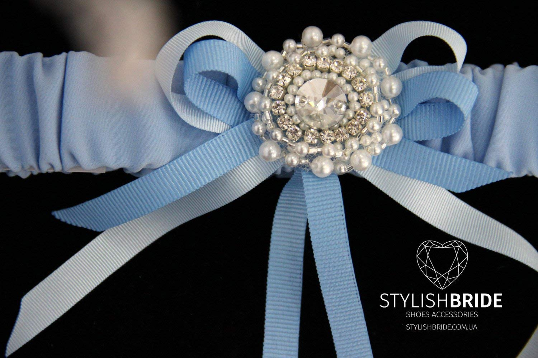 Wedding Garters Blue Satin, Satin Crystal Wedding Blue Garter, Wedding Blue Satin Garter, Satin Crystal Wedding Blue Garter, Wedding Garter