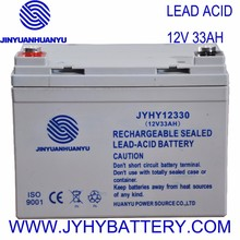 12V 33AH 20hr Rechargeable Deep Cycle Sealed Solar Dry Battery