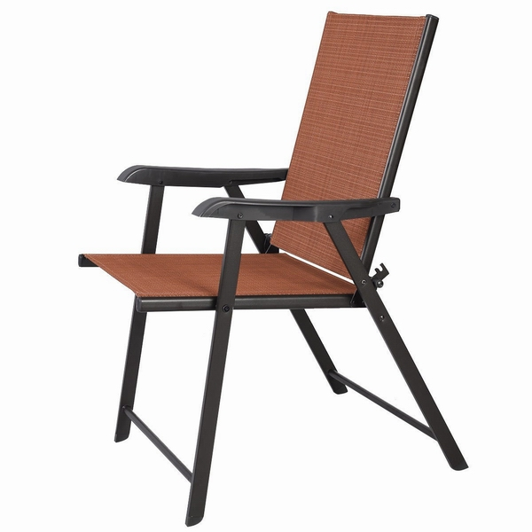 Patio Furniture Space Saving Folding Chairs Outdoor Metal Garden Chairs Folding