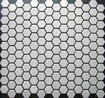 Wei und schwarz 23mm sechseck fliesen feinsteinzeug - Fliesen sechseck ...