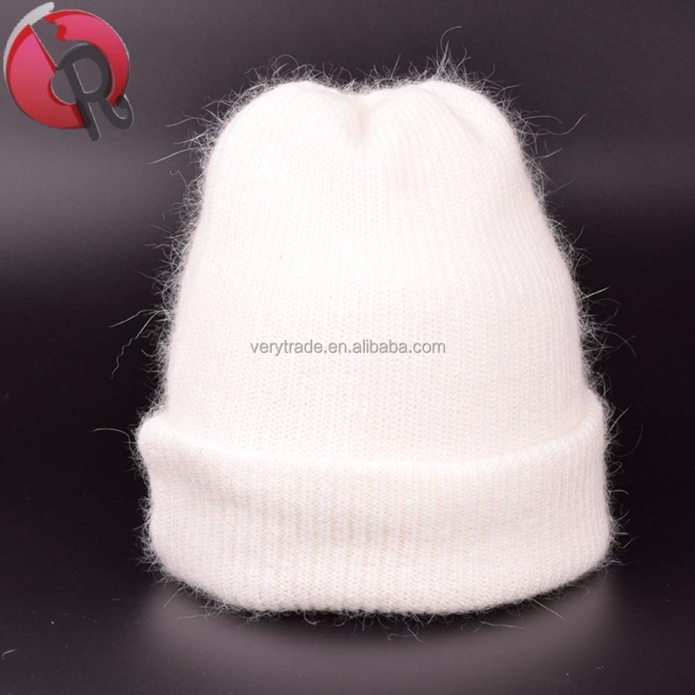 Women Girls Winter Warm Hats Angora Rabbit Fur Knit Hats Cashmere Beanie  Hat Cap angora hat 7df09db634d