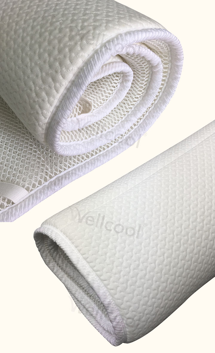 China manufacturers washable polyester 3d air mesh mattress cooling topper pad for home and hotel