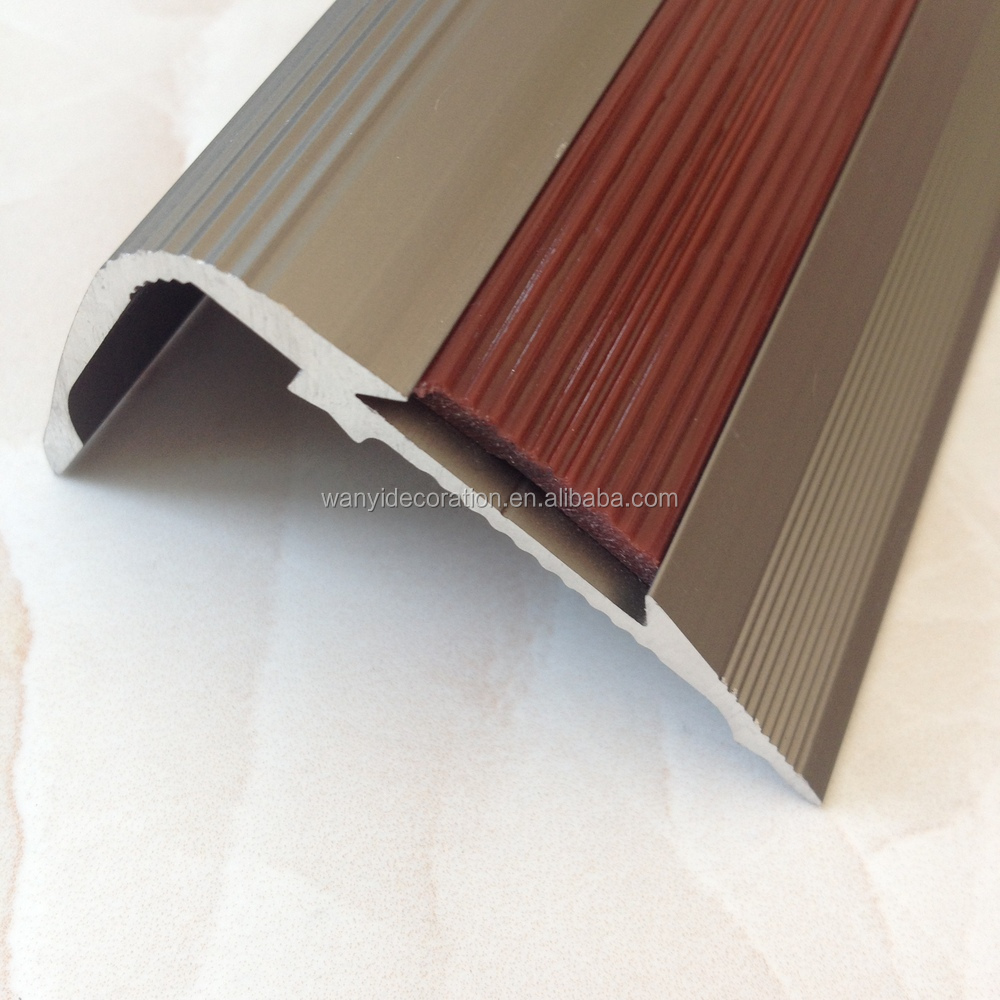 Aluminum And Rubber Floor Trim,Stair Tread - Buy Stair Tread,Aluminum Floor  Trim,Rubber Flooring Trim Product on Alibaba com