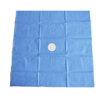 cheap factory supply SMS nonwoven fabric disposable surgical drape with hole for dental eye surgery