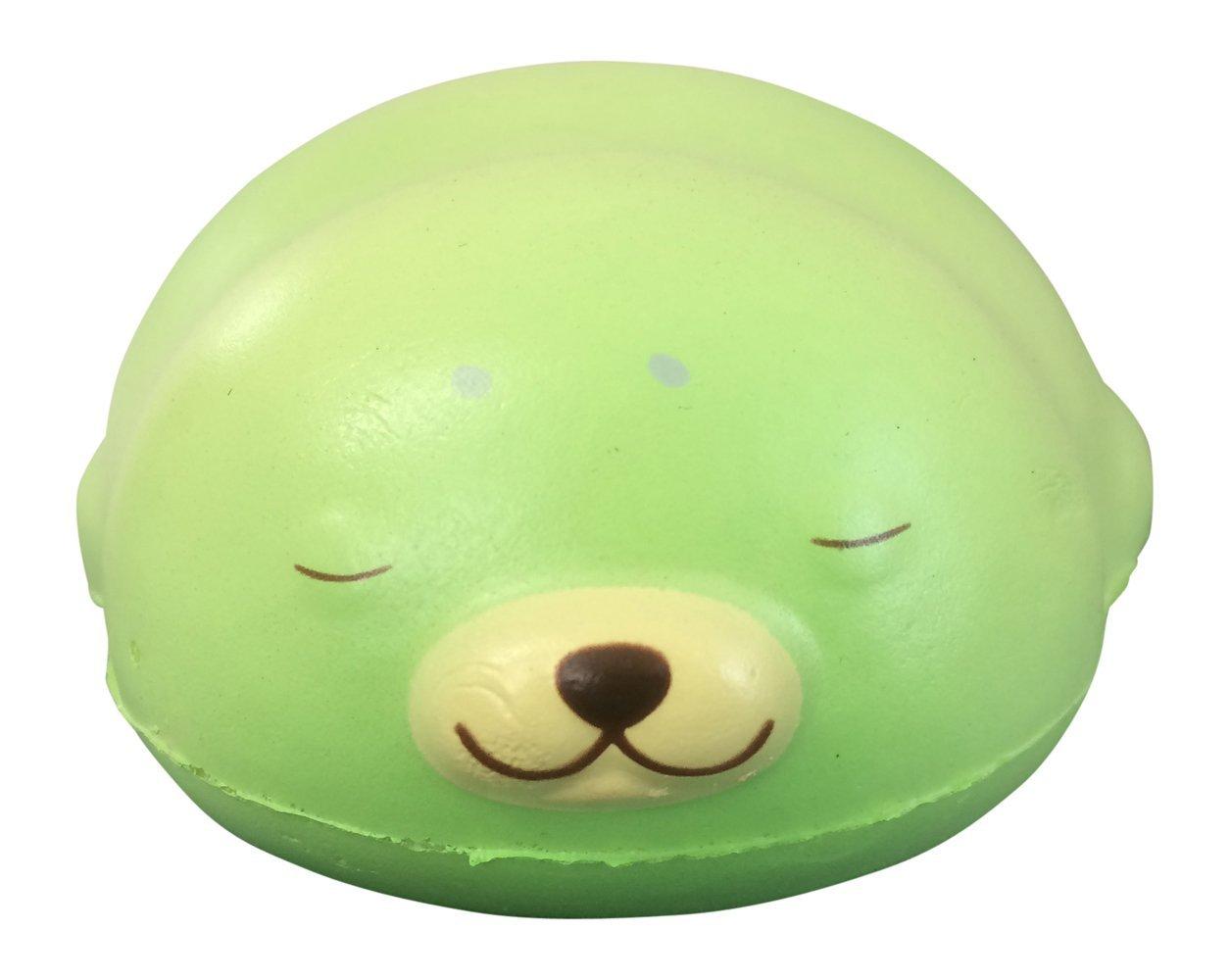 Puni Maru JUMBO Mochi Seal Squishy with Bonus Random Squishy from Jenna Lyn! (Melon)