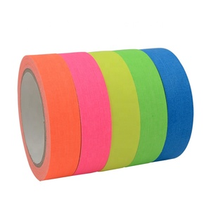 5 Colors UV Blacklight Reactive Tape Fluorescent Cloth Tape Neon Gaffer Tape
