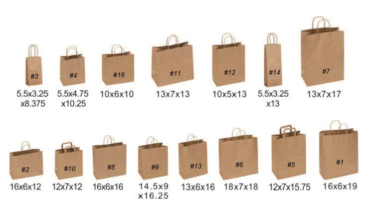 Made in China Durable elegant green kraft fancy paper gift bags for kids