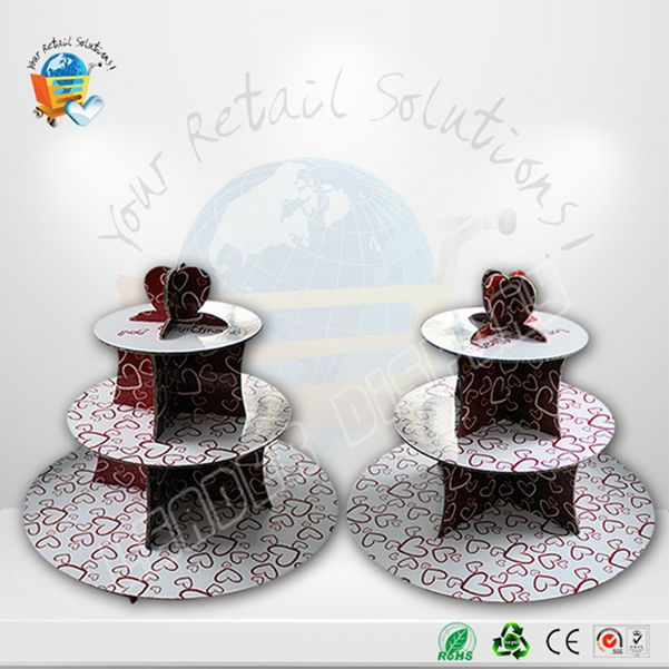 Customized acrylic floor display stand glass cake cover with cake module inside it