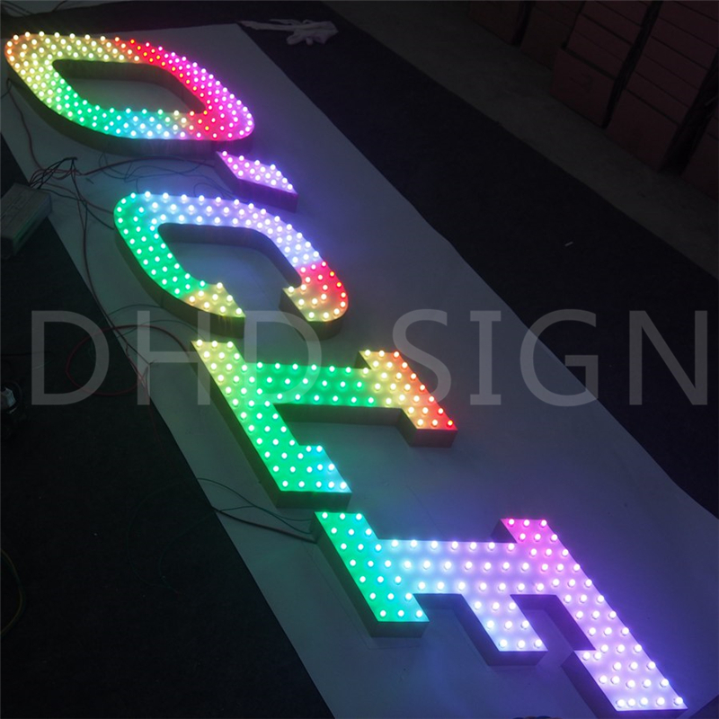 New design customized full color punching metal signboard letter sign With Good Service