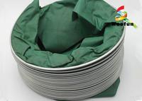 Eco - Friendly Green High Temperature Flexible Duct , PVC High Pressure Flex Duct