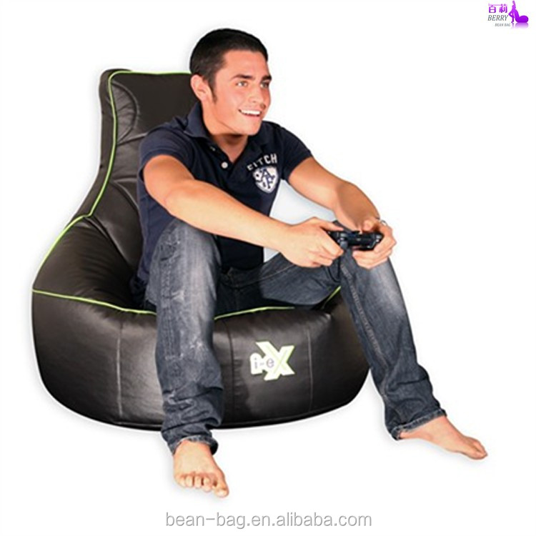 Fashion PU Leather Sitting Puffs Bean Bag Sofa Chair