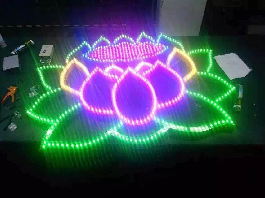 Full Color Led Pixel Sign 12mm Led Pixel WS2811|Pixel Rgb DMX Control Led Direct Lighting