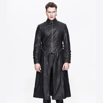 Manteau Hommes Western En Gothique Beau Style Long D'hiver Cuir a8qdw7dCx
