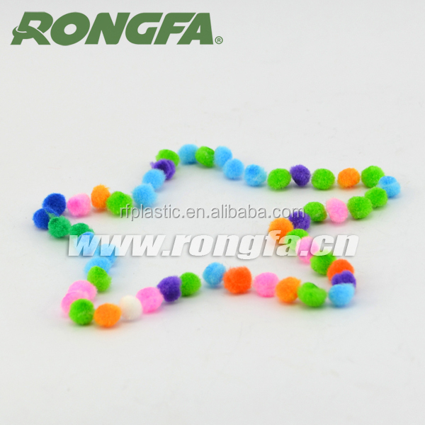 Fashion 3mm acrylic pompoms for educational science toys