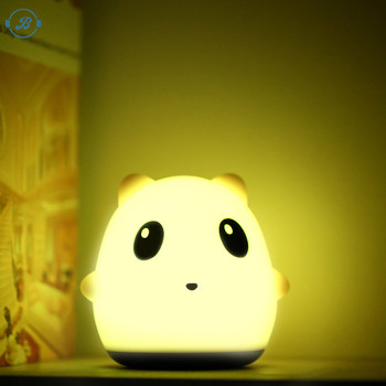 Cute Cartoon Animal Plastic Baby Kid Bedroom Table Desk Home LED Night Lamp Switch Light