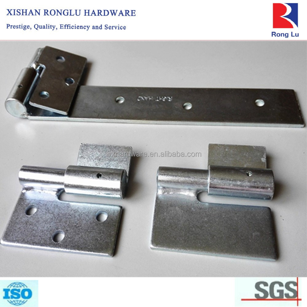 Outdoor Use Zinc Plated Ball Bearing Gate Strap Welded Hinge