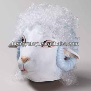 Wholesale Masquerade Mask(Full Head Cosplay,Party,Costume,Carnival,Ball Mask) Hot-selling Realistic Latex Goat Mask