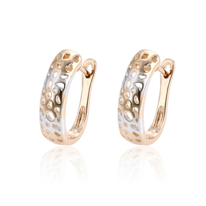 95719 xuping Hot Sale Fashion Latest Colored Hoop Earrings Woman, Lovely round earrings designs