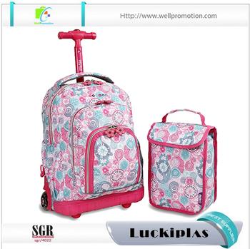 Custom Rolling Backpack Kids Full Printed Roll Backpack For ...