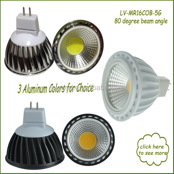 Nice Home Lighting 5w Led Bulb Warm White 12volt 80 Degree Flood ...