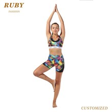custom design your own fitness clothing womens yoga set