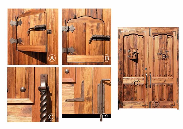 Porte In Legno Massello : Fascino rustico pianura porte in legno massello porta lacca grezza