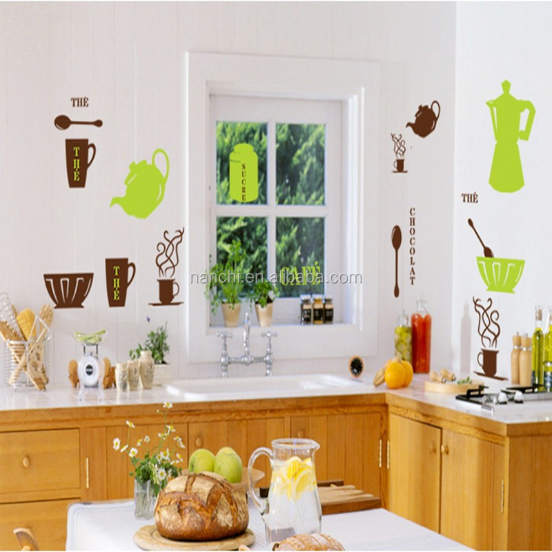 Mobili per cucina caffè decor wall sticker home decor fai da te ...