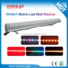Konuo LED-1831W waterproof outdoor use 18x3W LED pixel control wall wash dmx rgb led controller bar