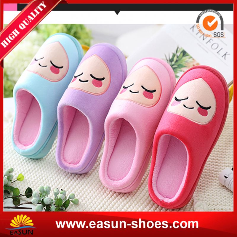 Home Woman Indoor Slippers Winter Leather Lady Slipper Warm Women House Slipper